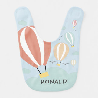 Personalised Hot Air Balloons Bib