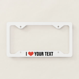 Personalised I Love License Plate Frame