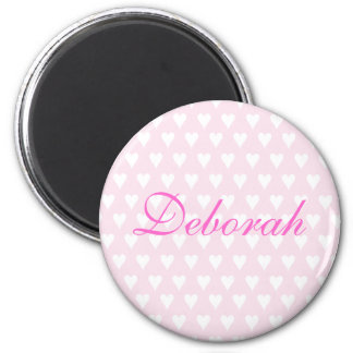 Personalised initial D girls name hearts magnet