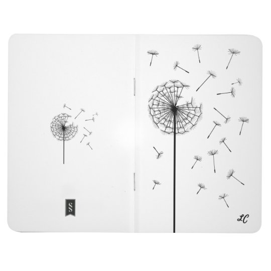 Personalised Journal - Dandelion + Your Initials