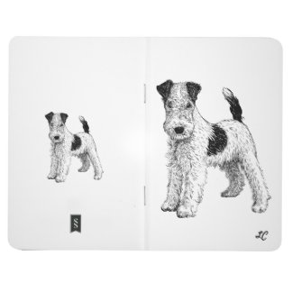 Personalised Journal - Fox Terrier + Your Initials