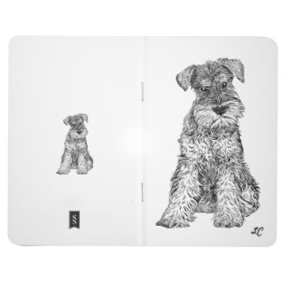 Personalised Journal - Schnauzer + Your Initials