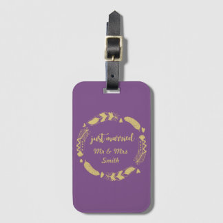 Personalised Just Married Bag Tag