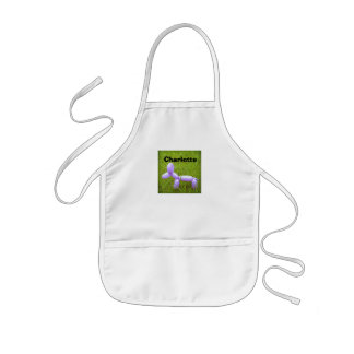 Personalised Kid's Apron with Balloon Dog Print