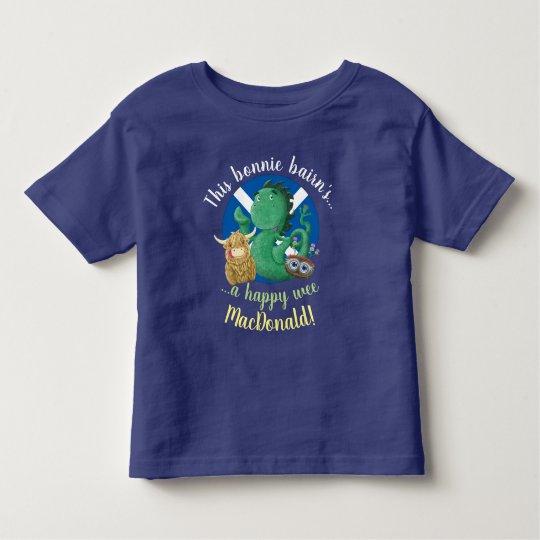 Personalised Kids Family Scottish Clan Name Toddler T-shirt