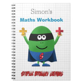 Personalised kids maths workbook spiral notebook