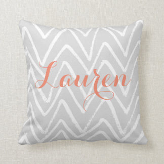 Personalised Lettering - Chevre graphics Throw Pillow
