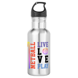 Personalised Live Love Play Netball Quote 532 Ml Water Bottle