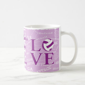 Personalised Love netball Coffe mug