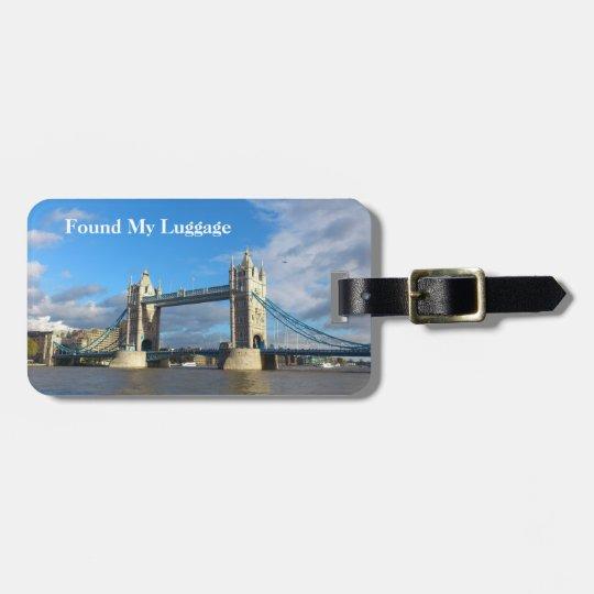 Personalised Luggage Tags-Tower Bridge London. Luggage Tag