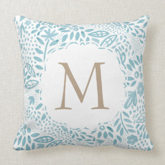 Personalised Monogram Watercolour Pattern Cushion