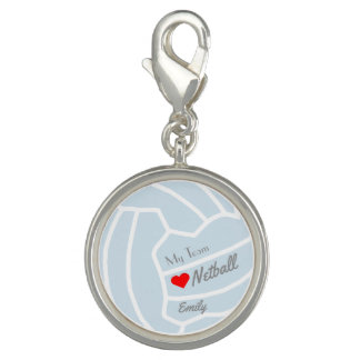 Personalised My Team I Love Netball Charm