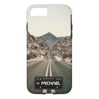 personalised name license plate iPhone 8/7 case