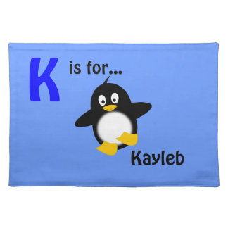 Personalised Name Placemat - Penguin Design