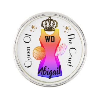 Personalised Name Player Position Netball Lapel Pin