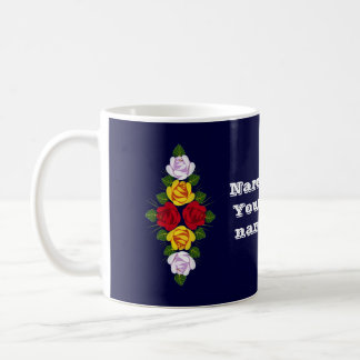 Personalised Narrowboat roses Coffee Mug