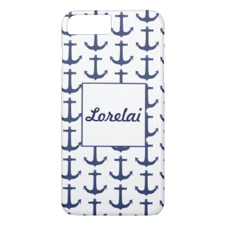 Personalised Nautical Theme Anchor Navy Phone Case