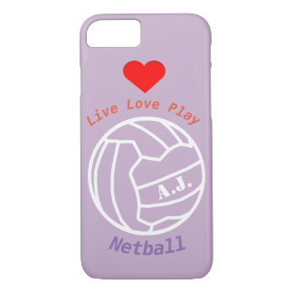 Personalised Netball Ball Design and Quote iPhone 8/7 Case