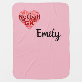 Personalised Netball Ball Design Baby Blanket