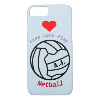 Personalised Netball Ball Theme and Quote iPhone 7 Case