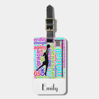 Personalised Netball Player Positions Design Luggage Tag
