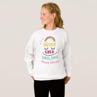 Personalised Never Stop Smiling Jumper Sweatshirt