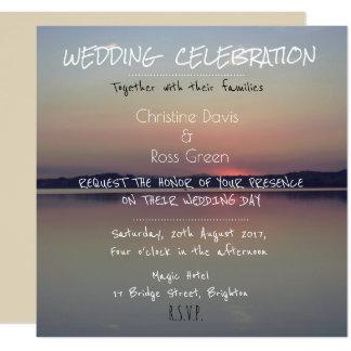 Personalised nostalgic lake wedding invitation