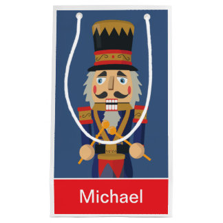 Personalised Nutcracker Toy Blue Soldier Small Gift Bag