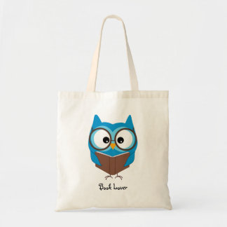 Personalised Owl Book Lover - Budget Tote Bag