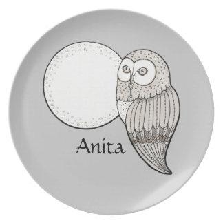 Personalised Owl Plate