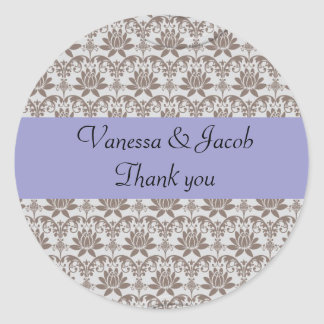 Personalised paisley damask stickers