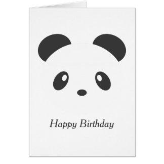 Personalised panda birthday card