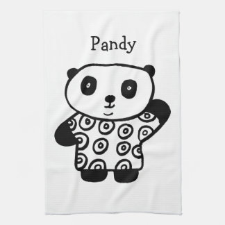 Personalised Pandy the Panda Kitchen Towel