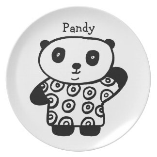 Personalised Pandy the Panda Plate