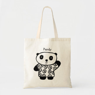 Personalised Pandy the Panda Tote Bag