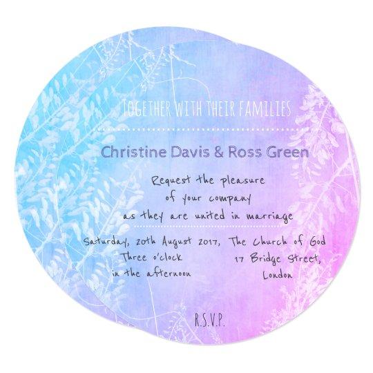 Personalised pastel, floral wedding invitation