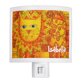 Personalised Patterned Lion Night Lites
