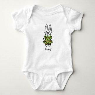 Personalised Penny the Rabbit Baby Bodysuit