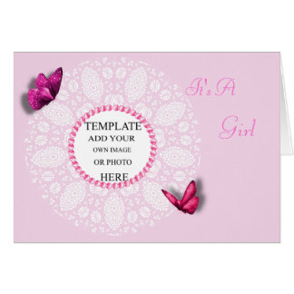 Personalised Photo Baby Girl Cards Template