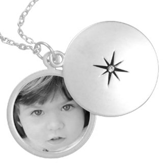 Personalised Picture Photo Silver Plated Necklace