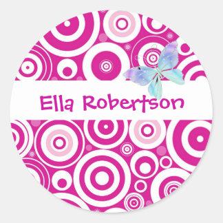 Personalised Pink Dot Name Label