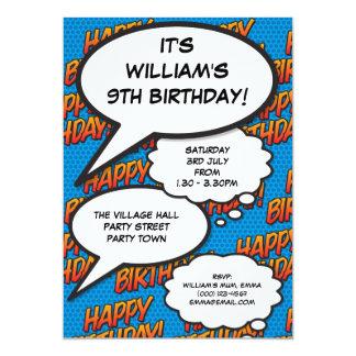 Personalised Pop Art Comic Book Birthday Invite