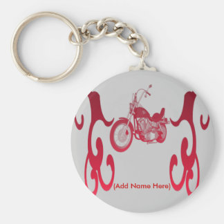 Personalised Red Bike - Keychain