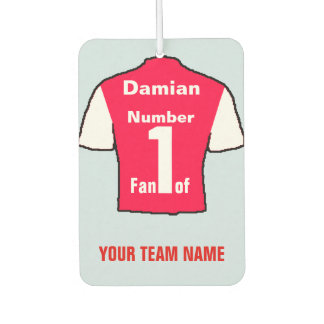 Personalised Red & White Shirts No 1 Fan Air Freshener