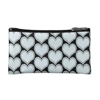 Personalised Romantic Heart Light Blue Black Bag