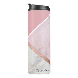 Personalised Rose Gold Marble Effect Travel Mug