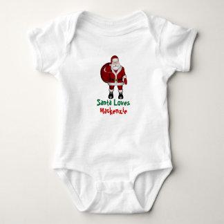 Personalised Santa Loves Me Infant Romper
