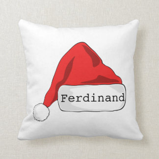 Personalised Santa's Hat double sided Cushion