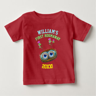 Personalised Scottish Haggis First Hogmanay! Baby T-Shirt