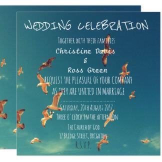 Personalised seaside wedding invitation